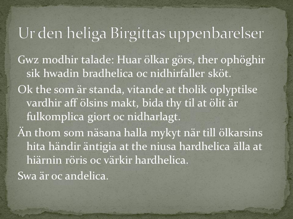Ur den heliga Birgittas uppenbarelser