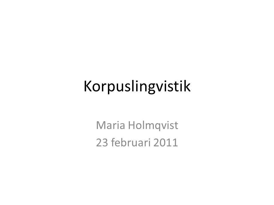 Maria Holmqvist 23 februari 2011