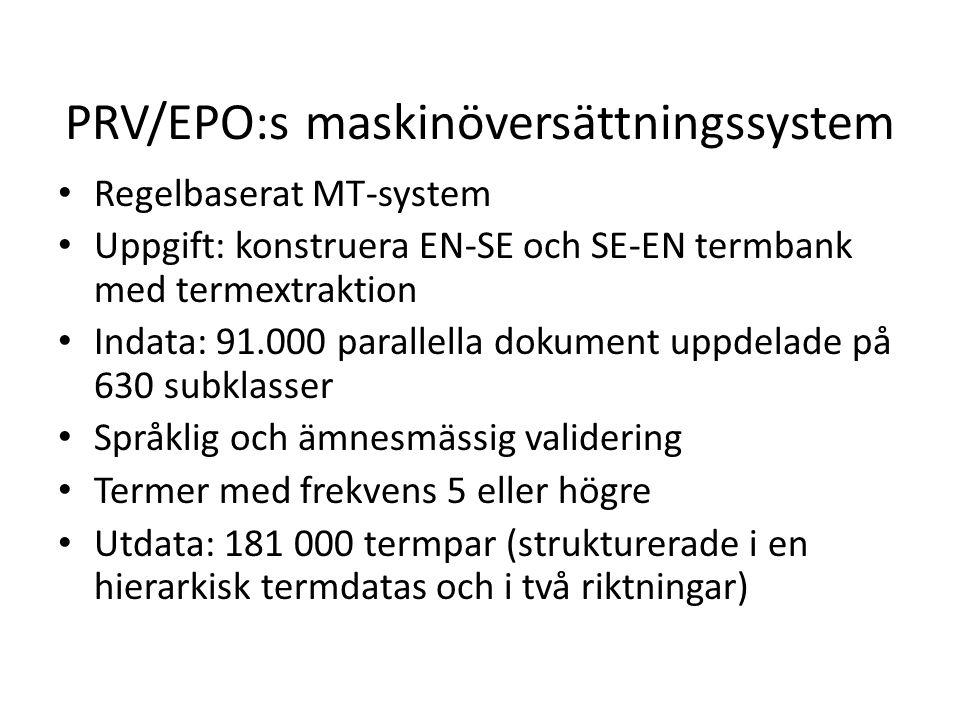 PRV/EPO:s maskinöversättningssystem