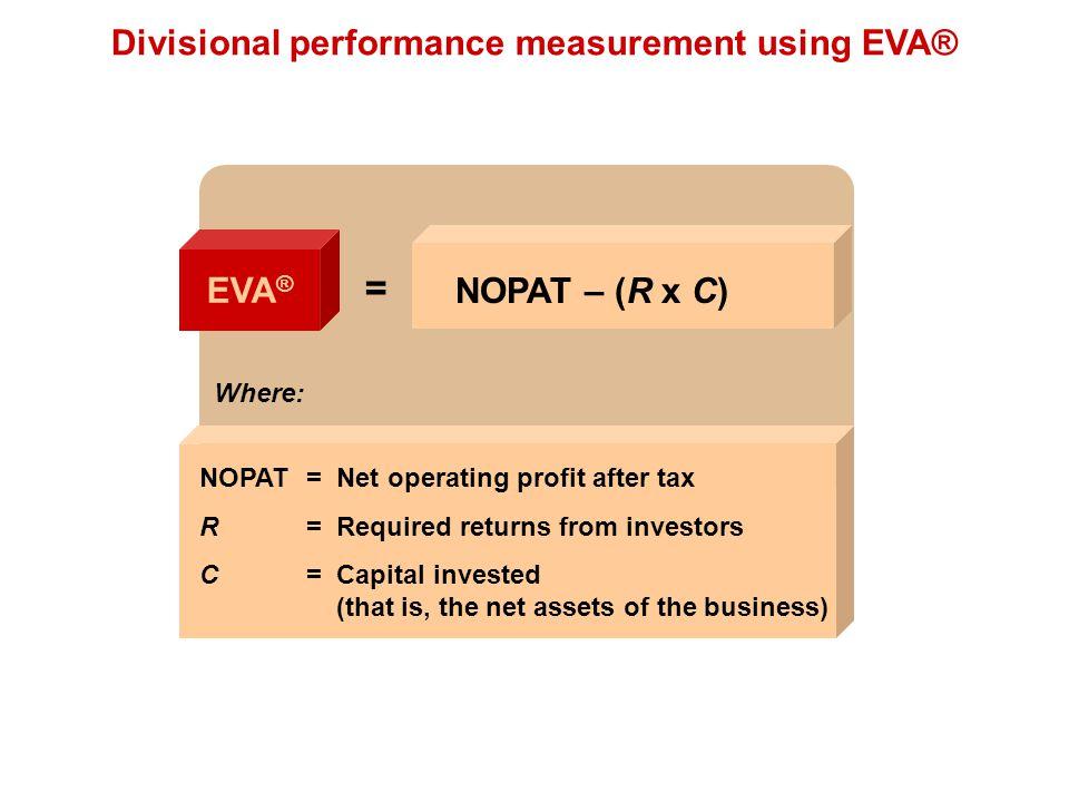 Divisional performance measurement using EVA®