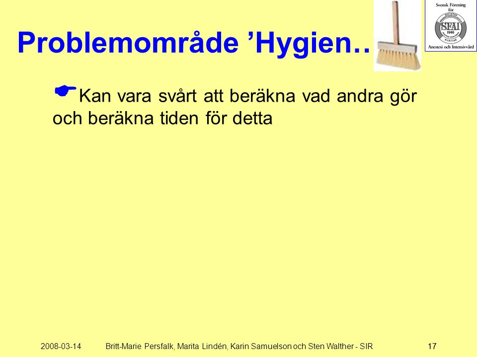 Problemområde 'Hygien…'