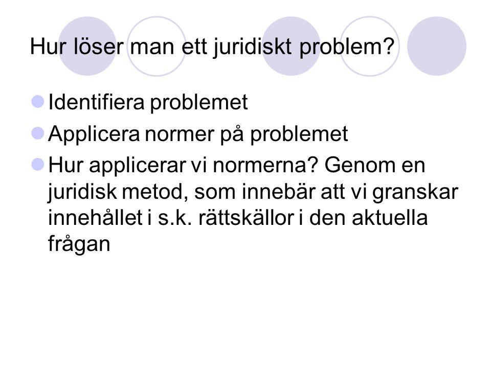 Hur löser man ett juridiskt problem