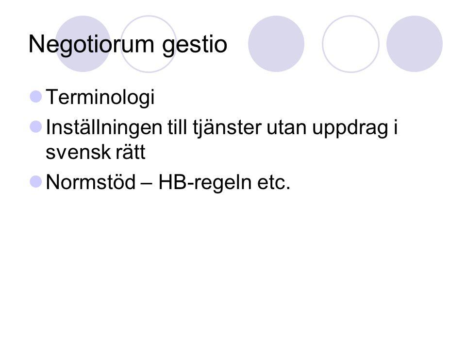Negotiorum gestio Terminologi