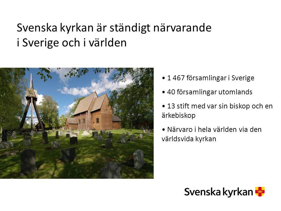 Svenska kyrkan är ständigt närvarande i Sverige och i världen