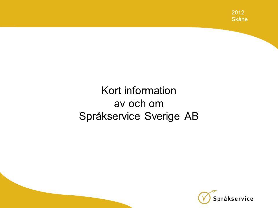 Kort information av och om Språkservice Sverige AB