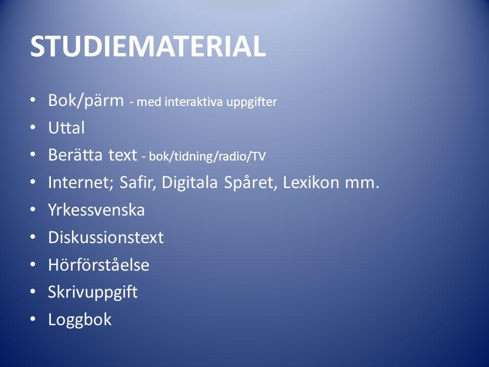 STUDIEMATERIAL Bok/pärm - med interaktiva uppgifter Uttal