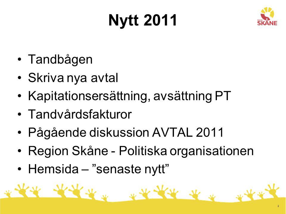 Nytt 2011 Tandbågen Skriva nya avtal