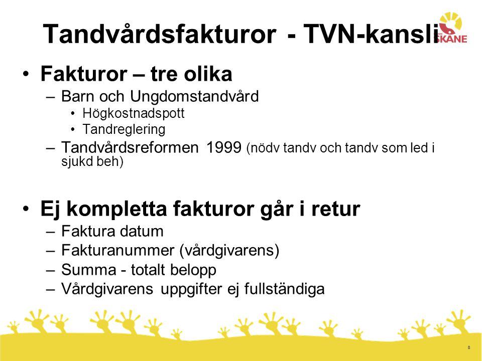 Tandvårdsfakturor - TVN-kansli