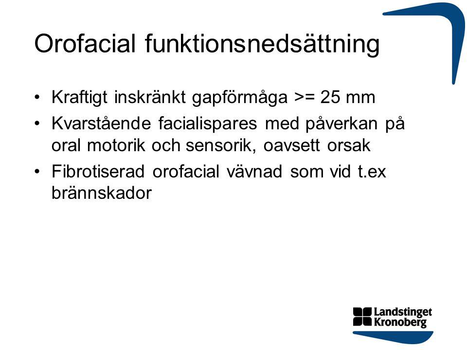 Orofacial funktionsnedsättning