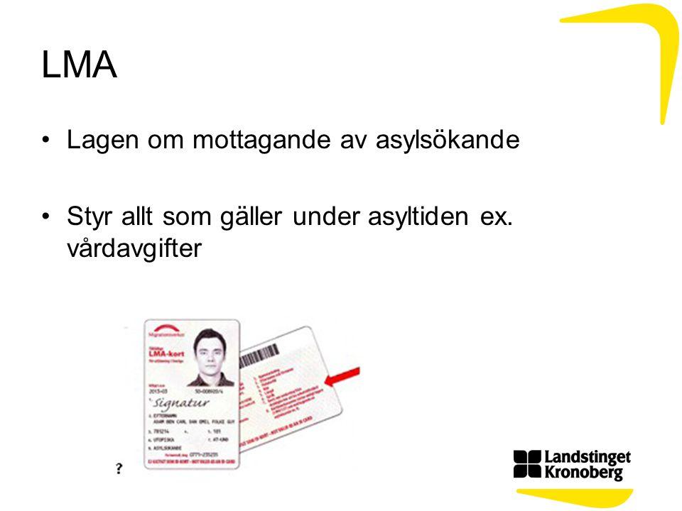 LMA Lagen om mottagande av asylsökande