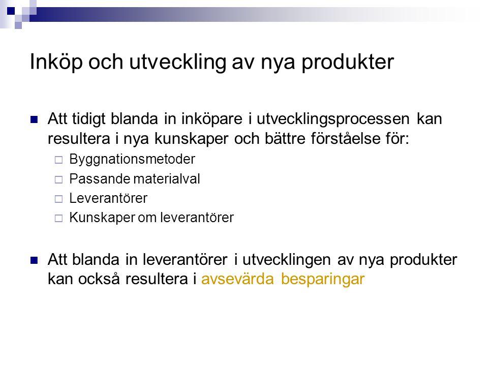 Inköp och utveckling av nya produkter