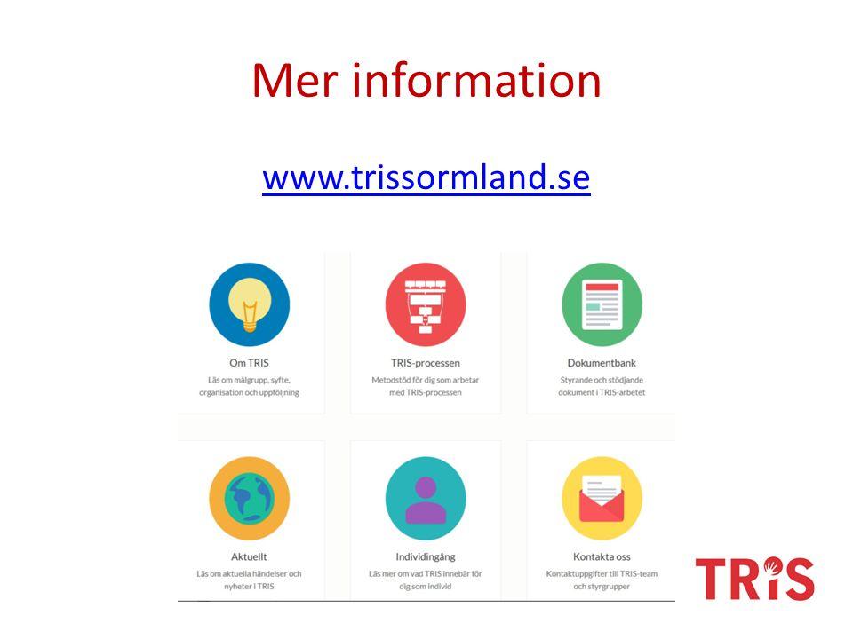Mer information www.trissormland.se