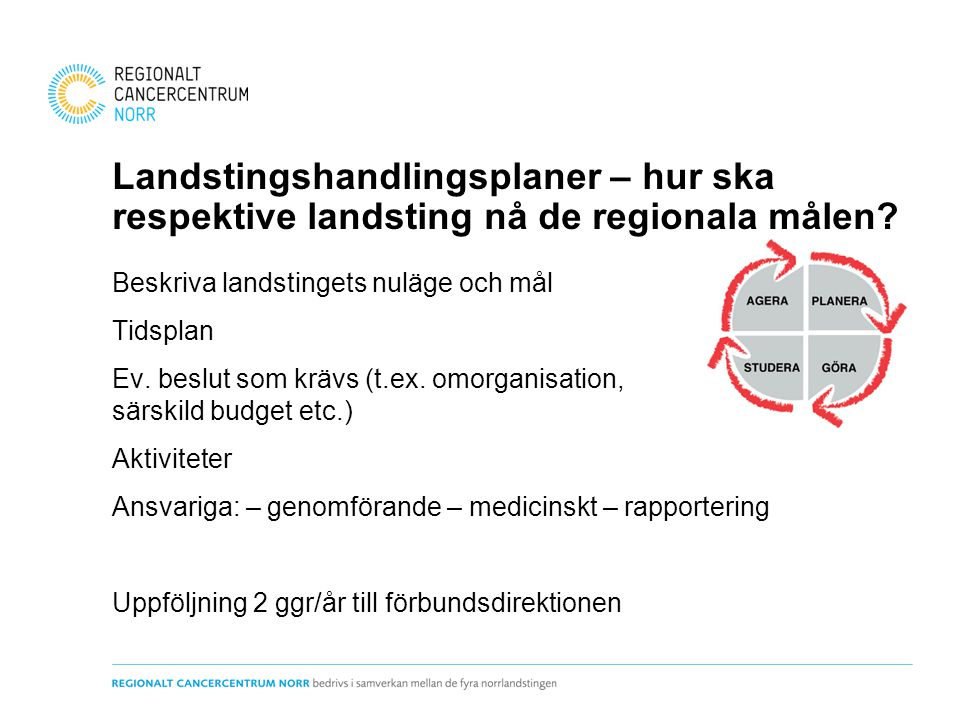 Landstingshandlingsplaner – hur ska respektive landsting nå de regionala målen