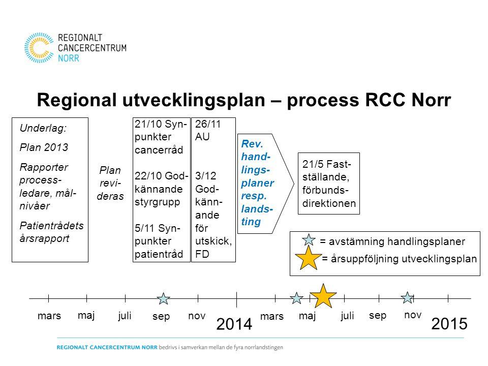 Regional utvecklingsplan – process RCC Norr