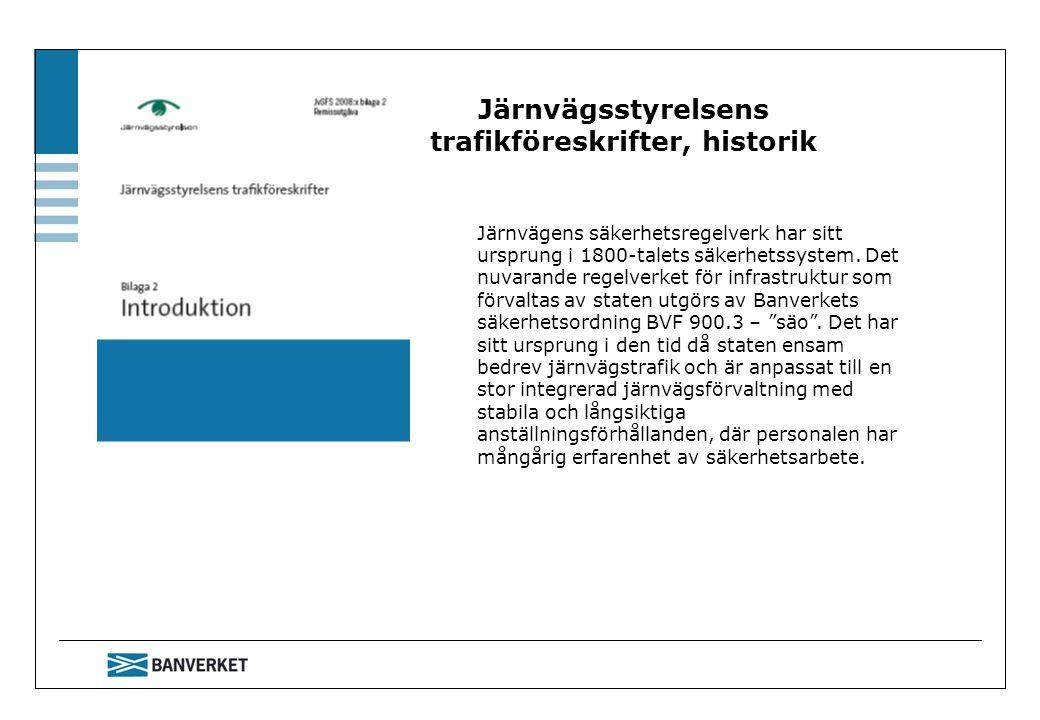 Järnvägsstyrelsens trafikföreskrifter, historik