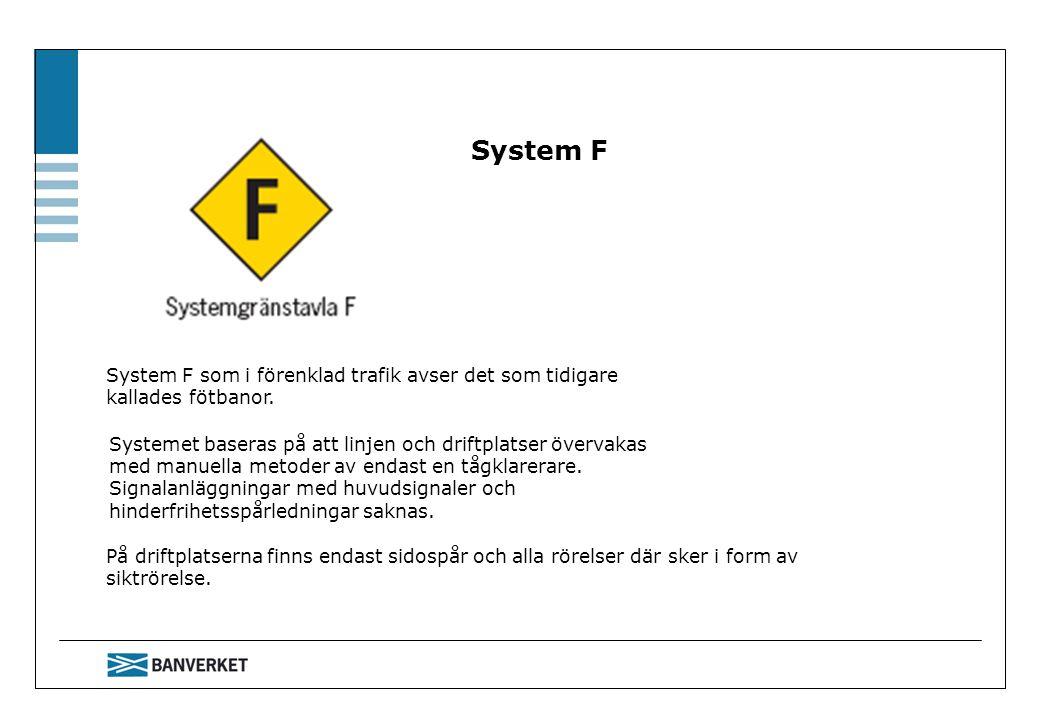 System F System F som i förenklad trafik avser det som tidigare kallades fötbanor.