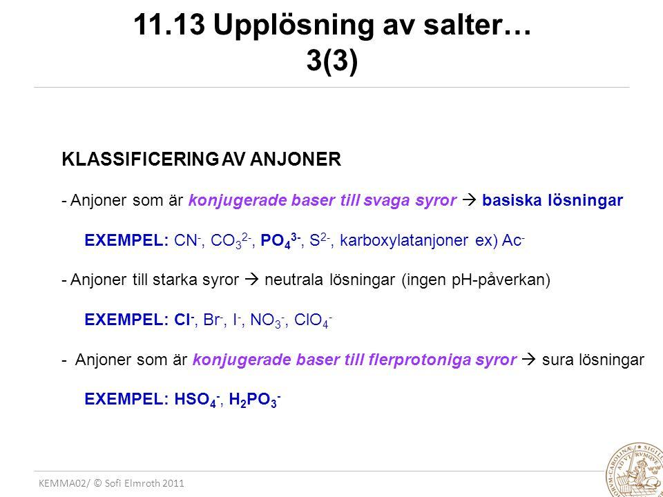 11.13 Upplösning av salter… 3(3)