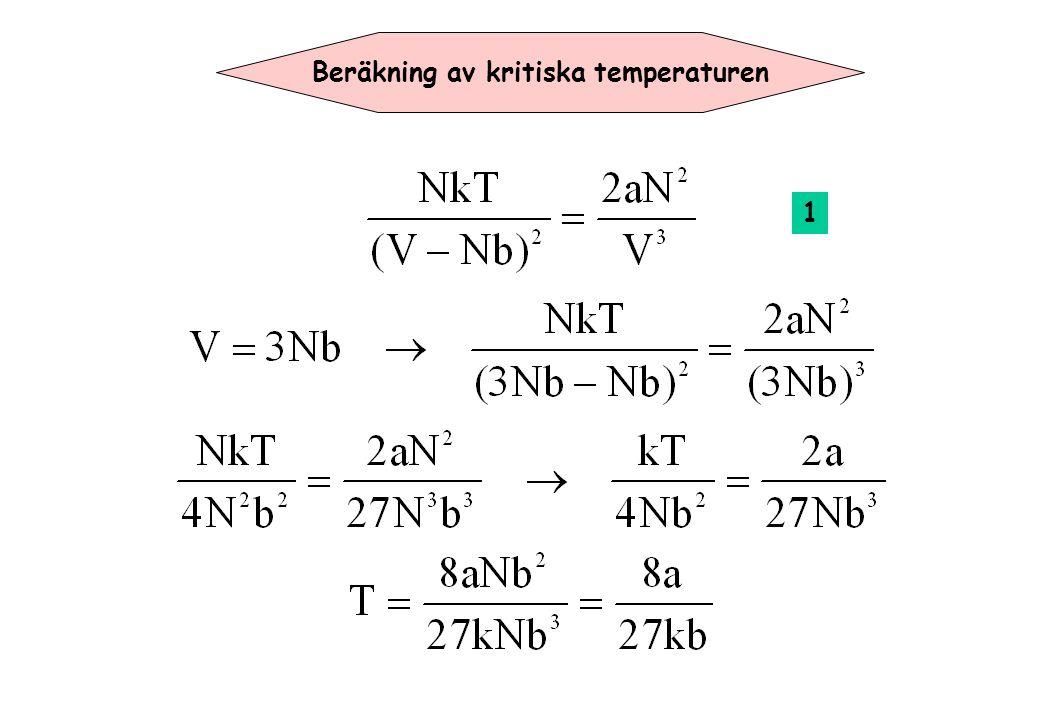 Beräkning av kritiska temperaturen