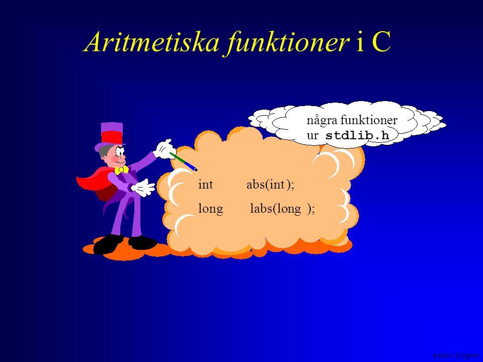 Aritmetiska funktioner i C