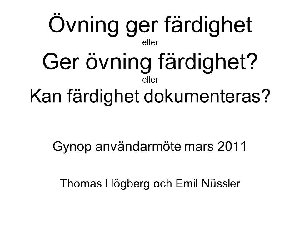 Gynop användarmöte mars 2011 Thomas Högberg och Emil Nüssler