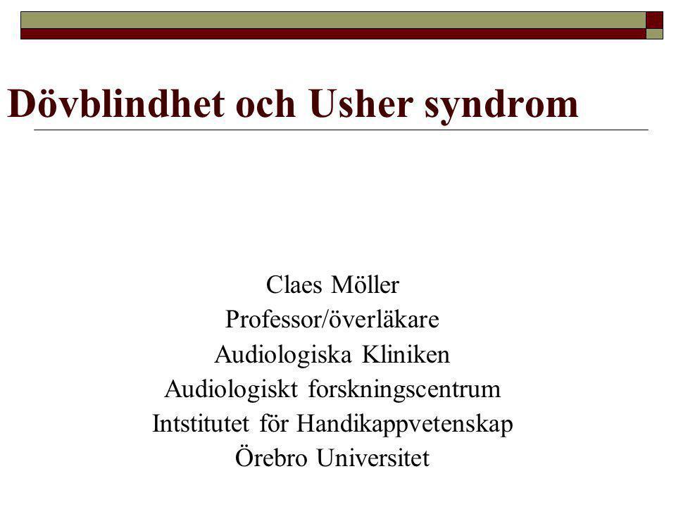 Dövblindhet och Usher syndrom
