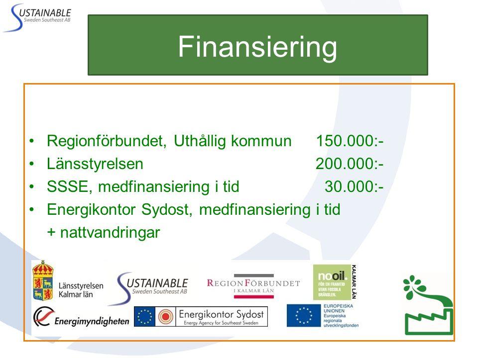 Finansiering Regionförbundet, Uthållig kommun 150.000:-