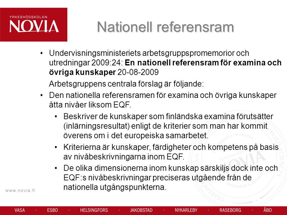 Nationell referensram
