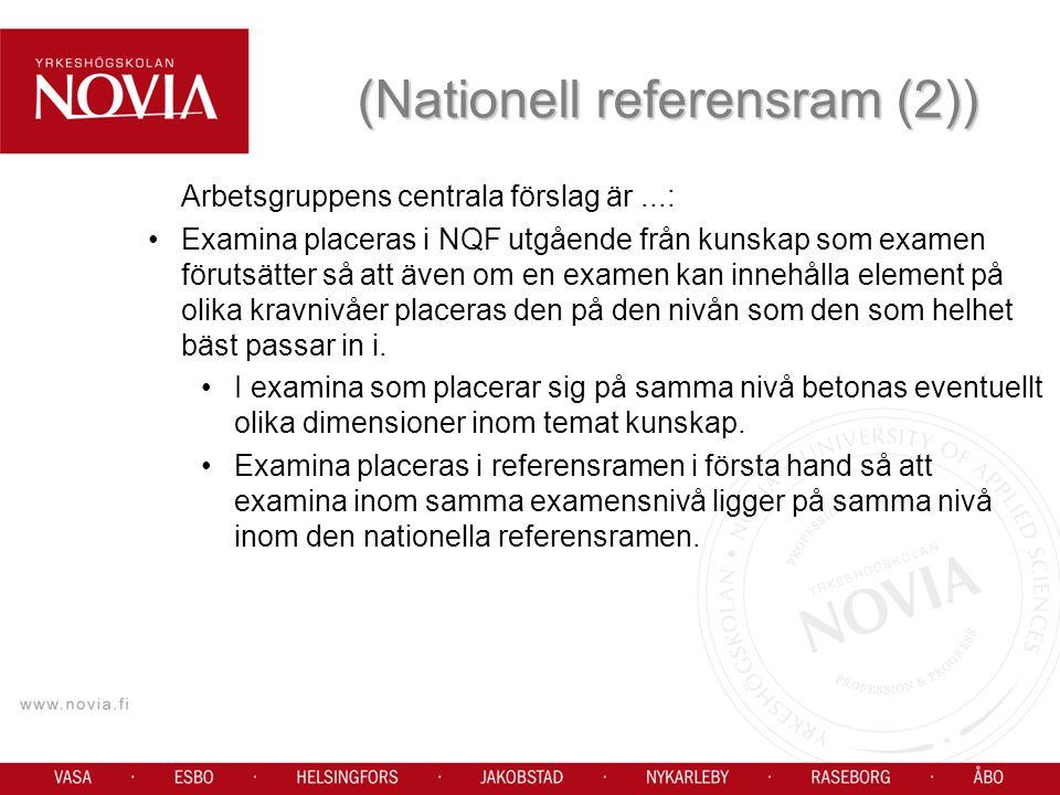 (Nationell referensram (2))