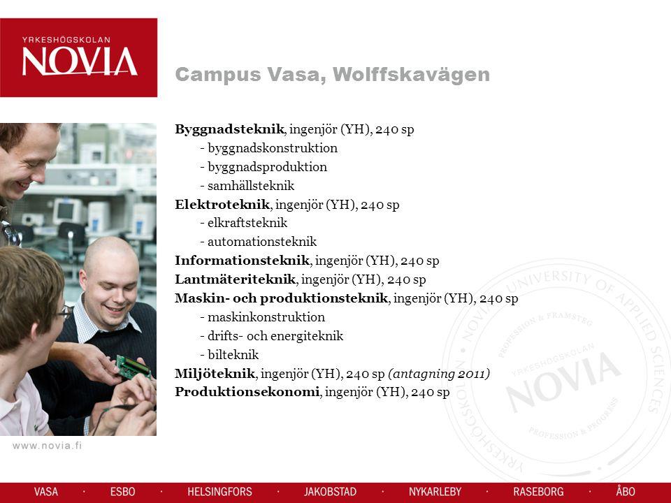 Campus Vasa, Wolffskavägen