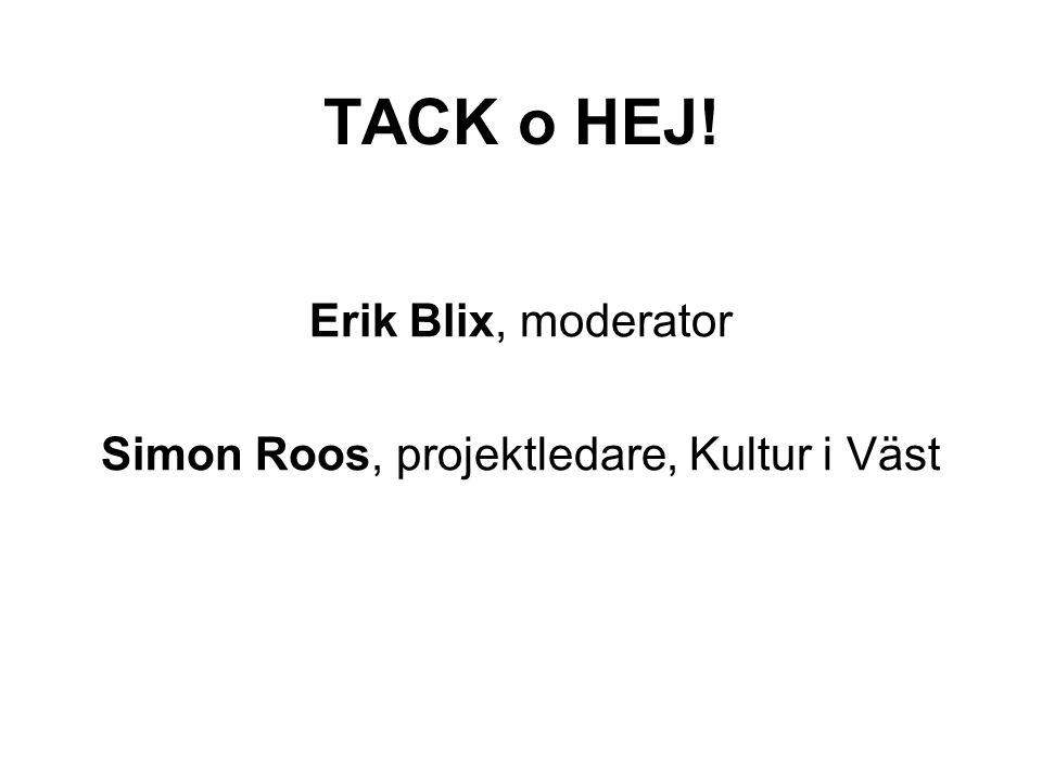 Simon Roos, projektledare, Kultur i Väst