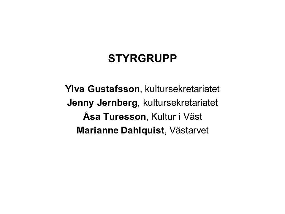 STYRGRUPP Ylva Gustafsson, kultursekretariatet