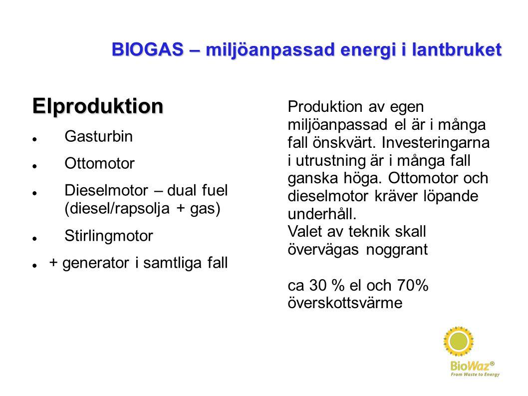BIOGAS – miljöanpassad energi i lantbruket