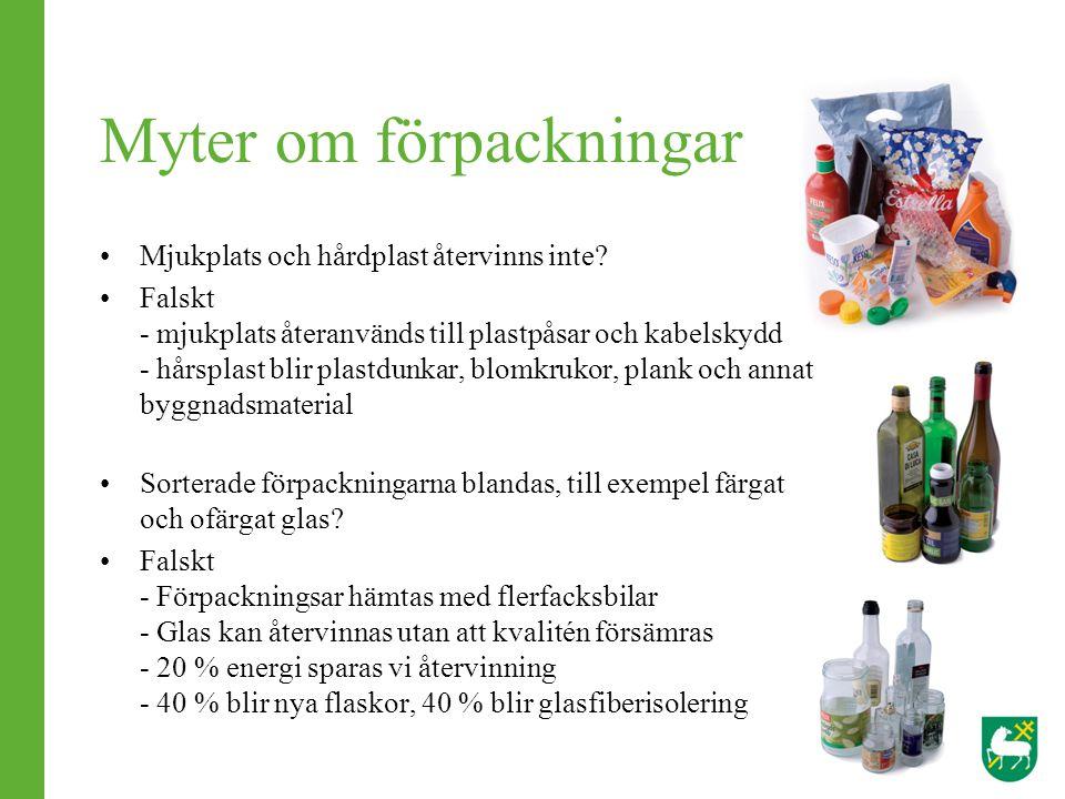 Myter om förpackningar