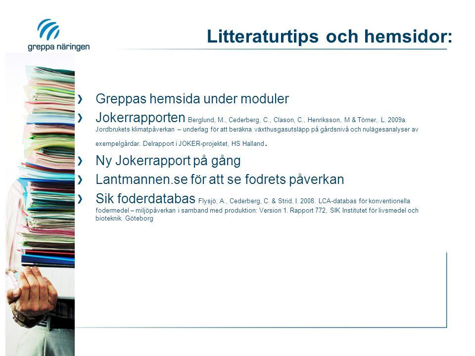 Litteraturtips och hemsidor: