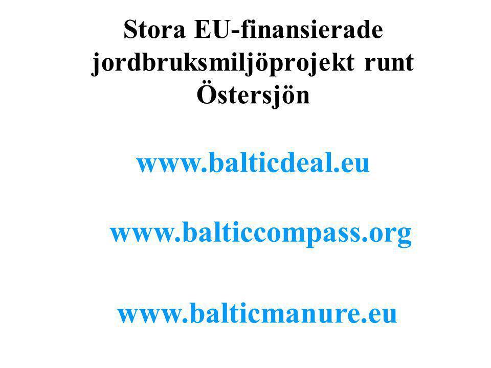 Stora EU-finansierade jordbruksmiljöprojekt runt Östersjön