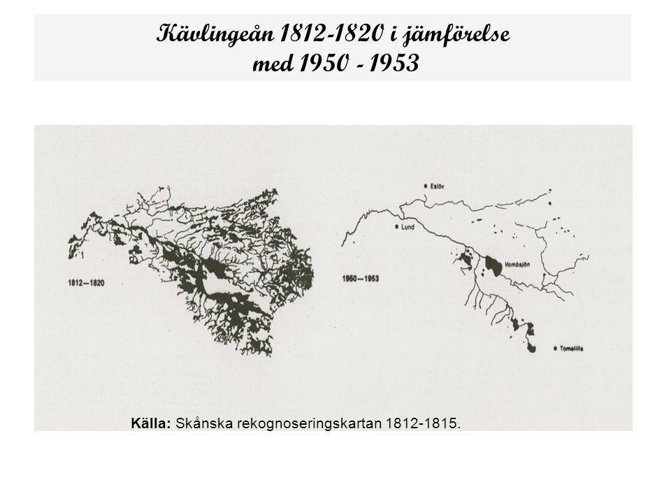 Kävlingeån 1812-1820 i jämförelse