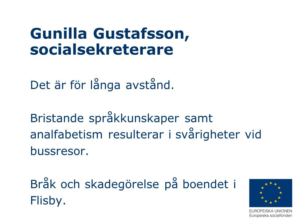 Gunilla Gustafsson, socialsekreterare