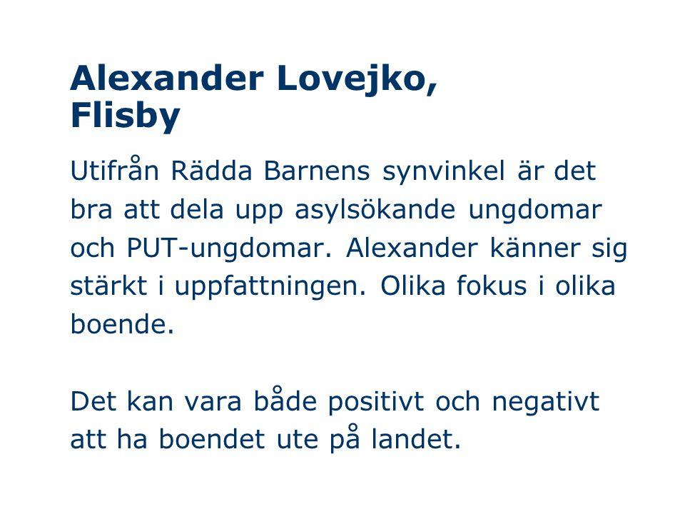 Alexander Lovejko, Flisby