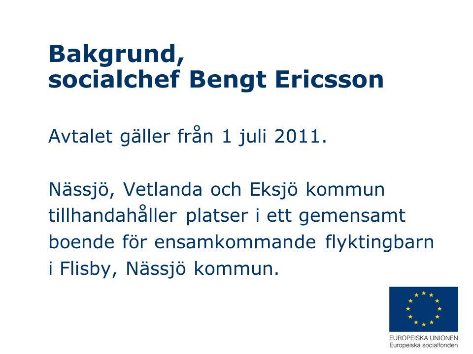 Bakgrund, socialchef Bengt Ericsson