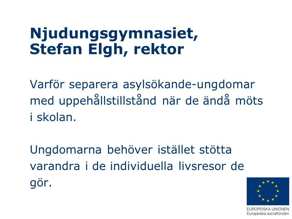 Njudungsgymnasiet, Stefan Elgh, rektor