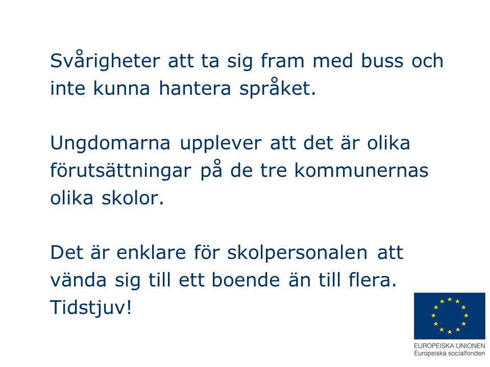 Svårigheter att ta sig fram med buss och inte kunna hantera språket