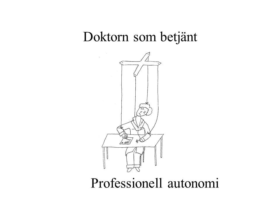Doktorn som betjänt Professionell autonomi