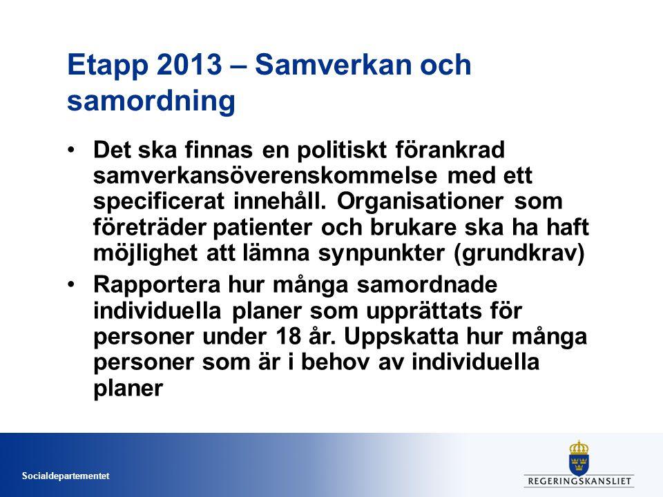 Etapp 2013 – Samverkan och samordning