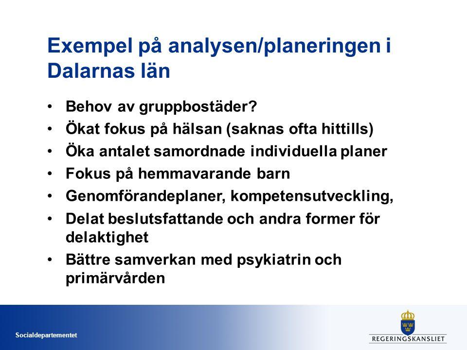 Exempel på analysen/planeringen i Dalarnas län