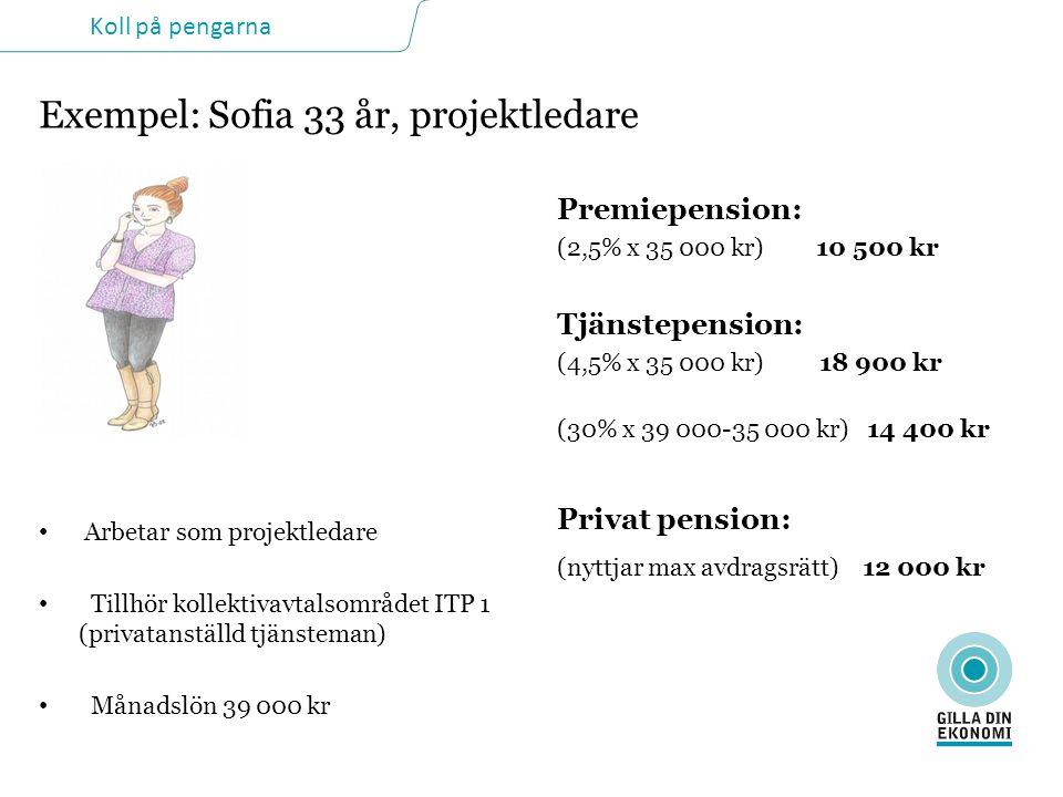 Exempel: Sofia 33 år, projektledare