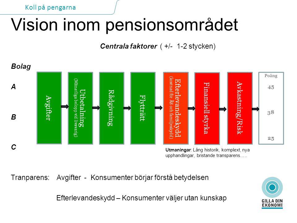 Vision inom pensionsområdet