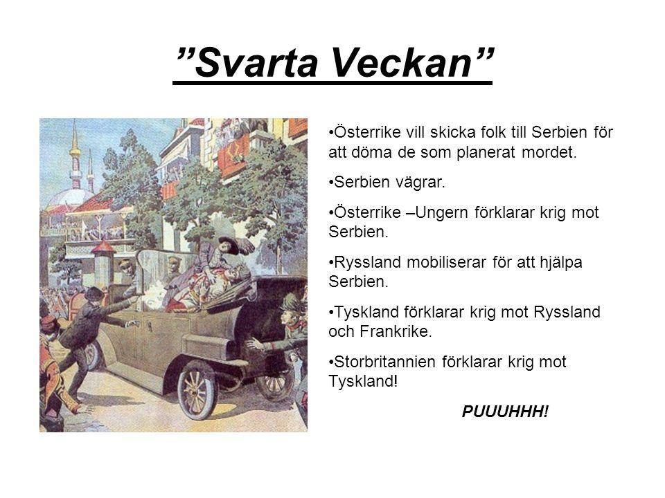 Svarta Veckan Österrike vill skicka folk till Serbien för att döma de som planerat mordet. Serbien vägrar.