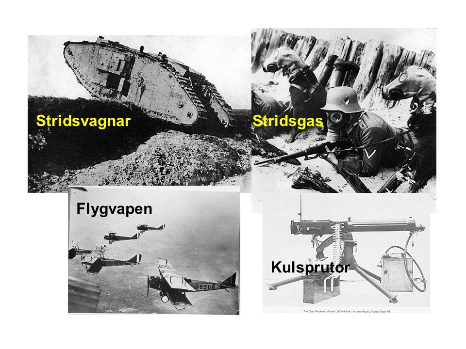 Stridsvagnar Stridsgas Flygvapen Kulsprutor