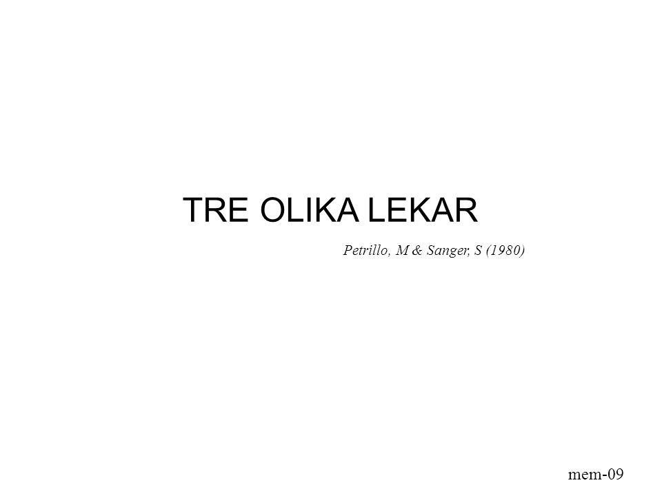 TRE OLIKA LEKAR Petrillo, M & Sanger, S (1980) mem-09