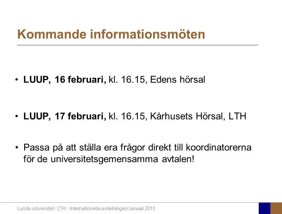 Kommande informationsmöten